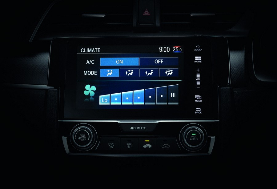 All-new Civic_Climate Control on Touch Screen Display