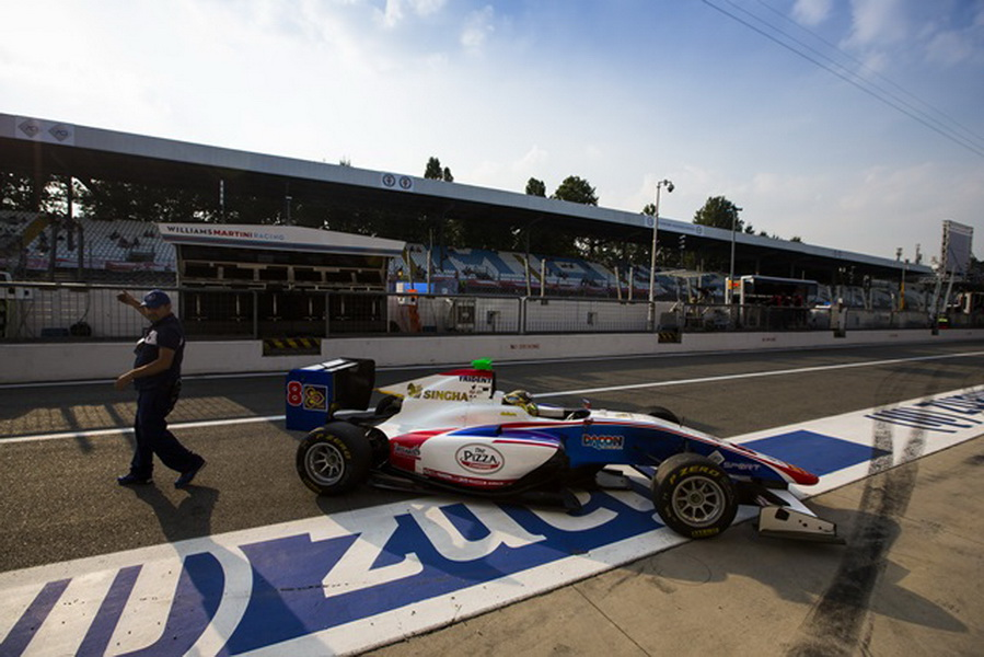 2016 GP3 Series Round 7 Autodromo di Monza, Italy. Friday 2 September 2016. Sandy Stuvik (THA, Trident) Photo: Sam Bloxham/GP3 Series Media Service. ref: Digital Image _SBB7362